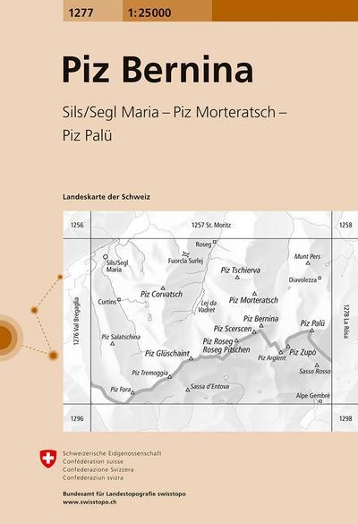 Swisstopo 1 : 25 000 Piz Bernina