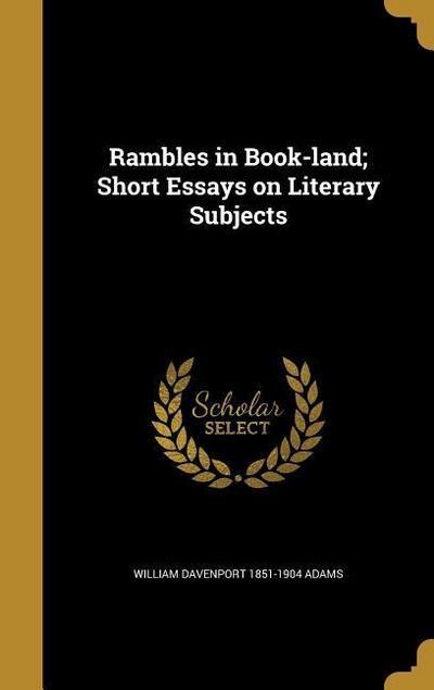 RAMBLES IN BK-LAND SHORT ESSAY
