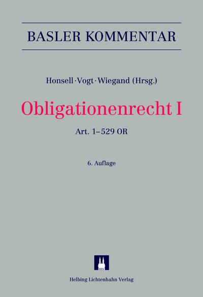 Obligationenrecht I: Art. 1-529 OR (Basler Kommentar)