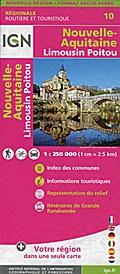 NR10 Nouvelle Aquitaine (Limousin-Poitou) Recto/verso 1:250 000