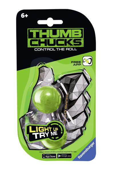 Thumb chucks grün: Control the roll