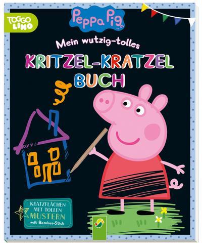Peppa Pig Mein wutzig-tolles Kritzel-Kratzel-Buch