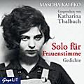 Solo für Frauenstimme, 1 Audio-CD