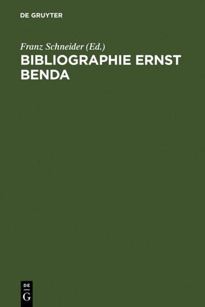 Bibliographie Ernst Benda