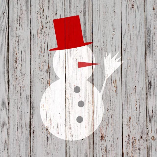 Servietten 'Snowman on Wood' -  -  4021766218559