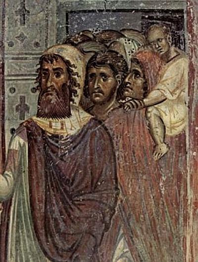 Meister von Nerezi - Fresken in der Kirche von Nerezi, Szene: Einzug in Jerusalem, Detail - 200 Teile (Puzzle)