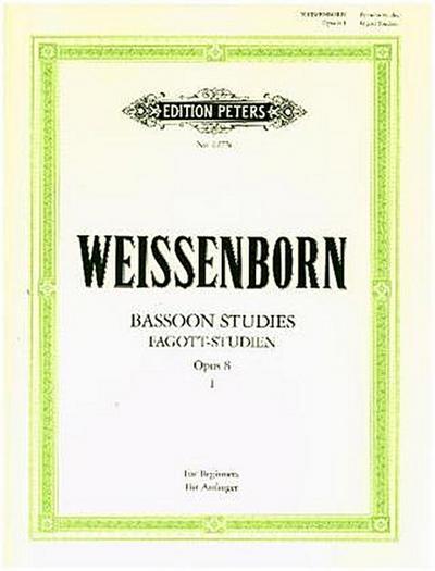 Fagott-Studien, Heft 1: Für Anfänger op. 8 (Deutsch / Englisch)