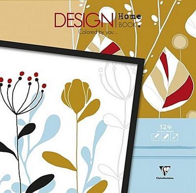 Malbücher verleimt für Erwachsene: Design Home Book 30 x 30 cm Osaka