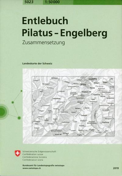 Swisstopo 1 : 50 000 Entlebuch - Pilatus - Engelberg