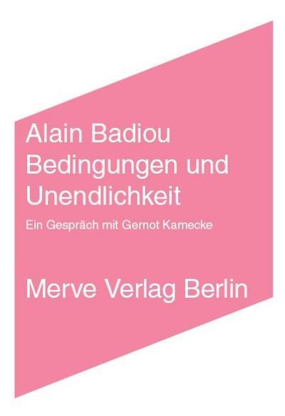 Bedingungen und Unendlichkeit: EinGesprächmitGernotKamecke (IMD)