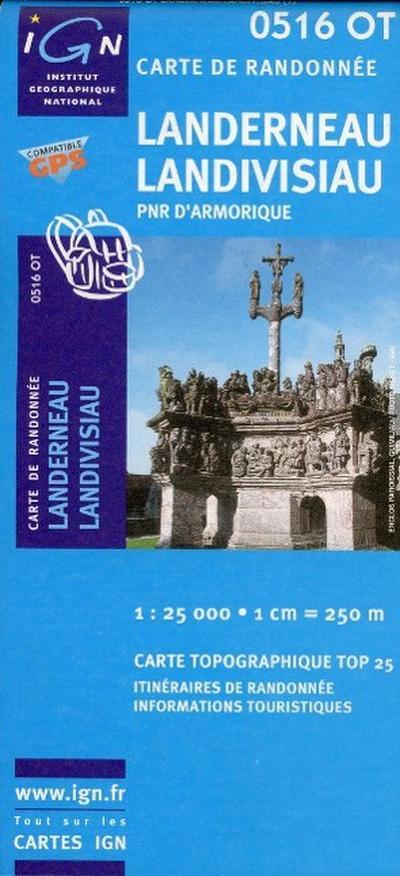 Landerneau / Landivisiau 1 : 25 000