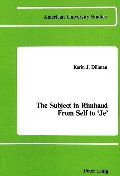 The Subject in Rimbaud