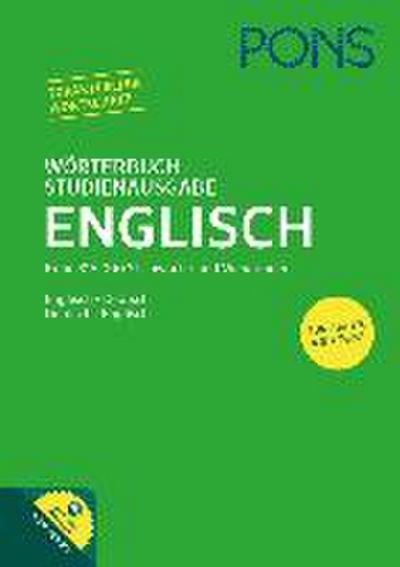 PONS Wörterbuch Studienausgabe Englisch: Englisch - Deutsch / Deutsch - Englisch. Mit Online-Wörterbuch