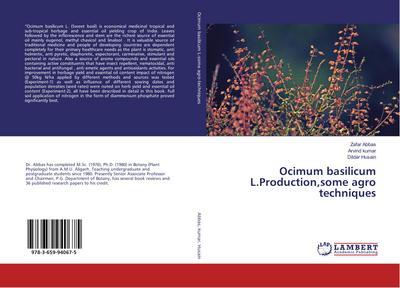 Ocimum basilicum L.Production,some agro techniques