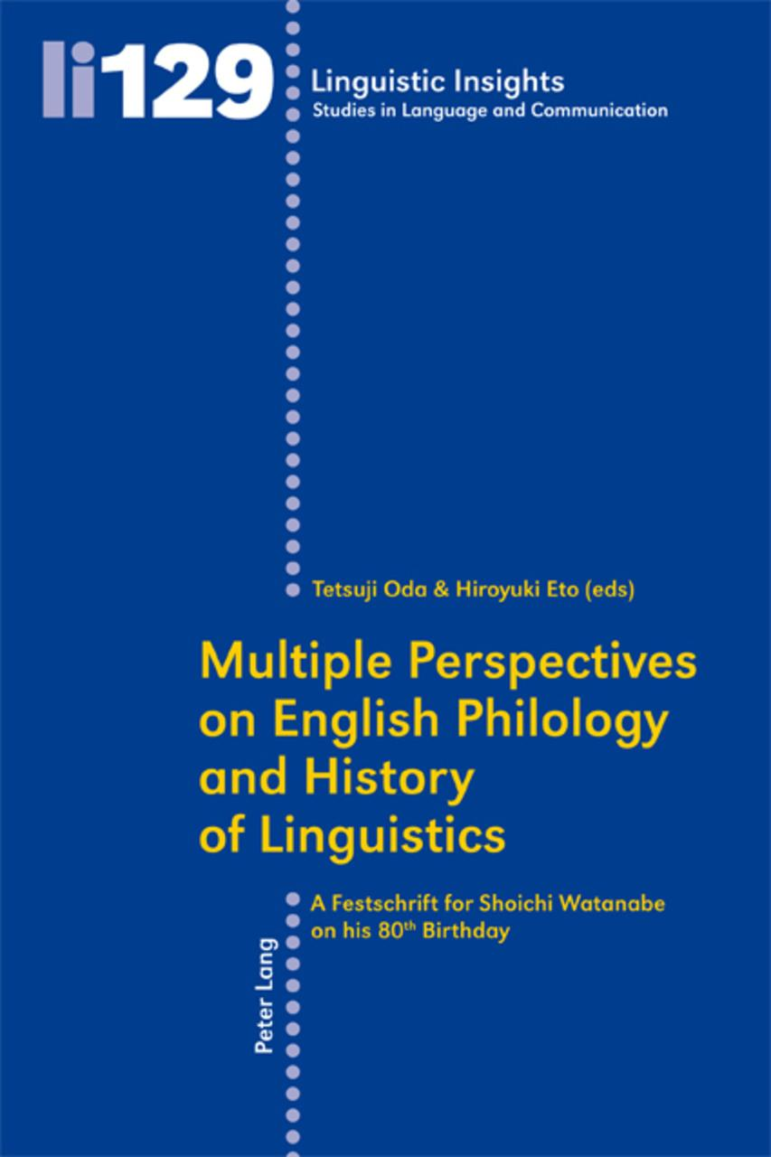 Multiple Perspectives on English Philology and History of Linguistics Tetsu ...