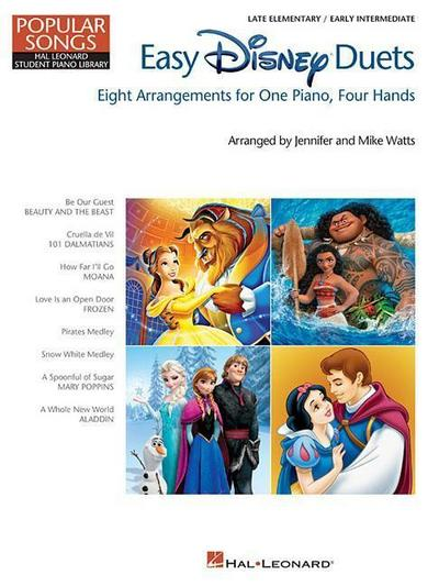 Easy Disney Duets - Popular Songs Series: Late Elementary/Early Intermediate Level
