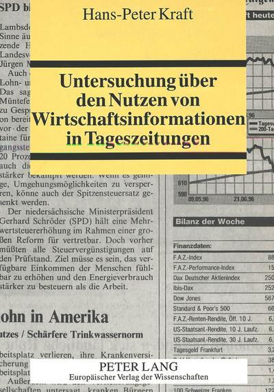 Untersuchung über den Nutzen von Wirtschaftsinformationen in Tageszeitungen