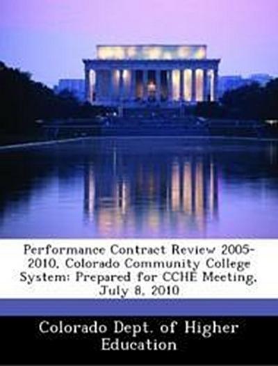 Colorado Dept. of Higher Education: Performance Contract Rev
