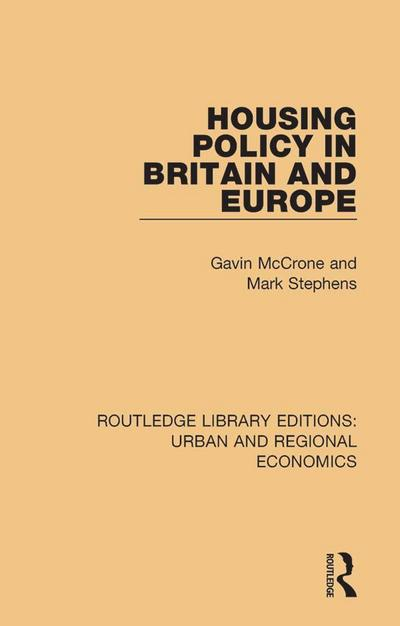Housing Policy in Britain and Europe