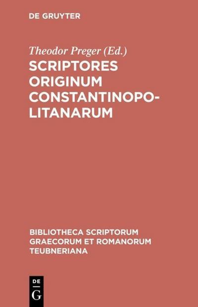 Scriptores originum Constantinopolitanarum