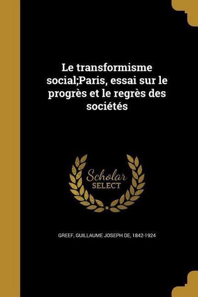 FRE-TRANSFORMISME SOCIALPARIS