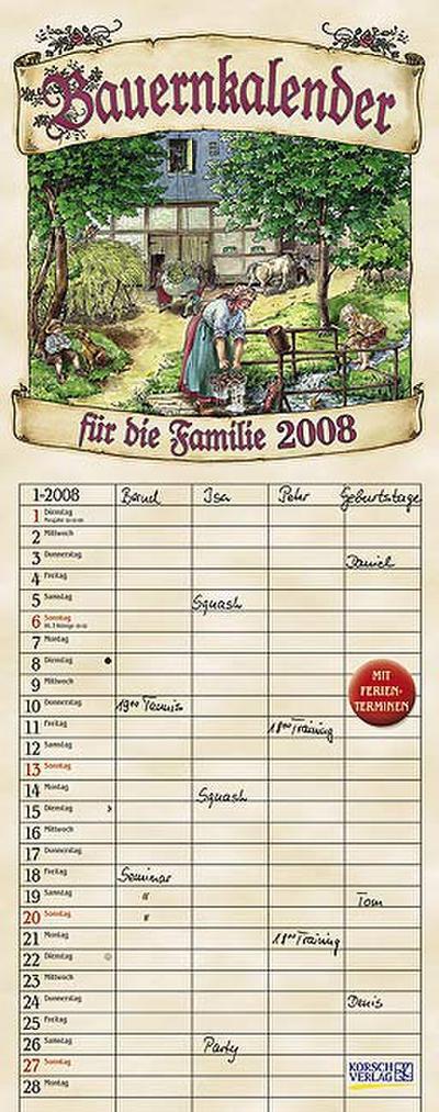 Bauernkalender für die Familie 2009
