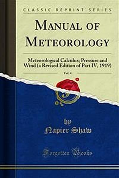 Manual of Meteorology