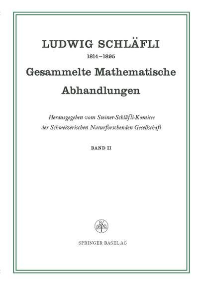 Gesammelte Mathematische Abhandlungen
