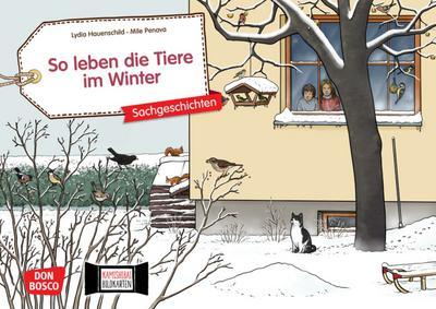 So leben die Tiere im Winter. Kamishibai Bildkartenset