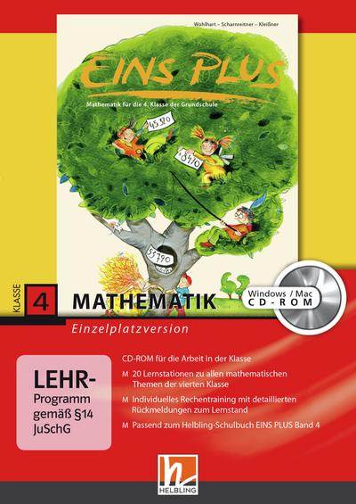 EINS PLUS 4. Ausgabe D. Lernsoftware für die Klasse