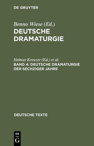 Deutsche Dramaturgie der Sechziger Jahre