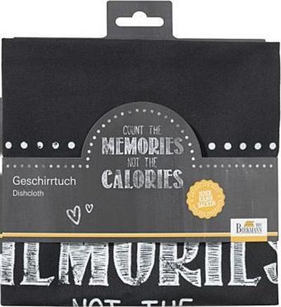 Birkmann 1010749610 Geschirrhandtuch Count The Memories, Kunststoff, Grau, 5 x 3 x 2 cm - Birkmann - Haushaltswaren, Deutsch, , not the calories, not the calories