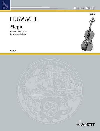 Elegie nach op.103b für Viola und Klavier