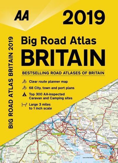 AA Big Road Atlas Britain 2019