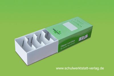 Clever Lernbox: 5-er Pack aus stabilem Karton, planliegend, zum selber Aufbauen - Schulwerkstatt - Geschenkartikel, Deutsch, Clemens Muth, 5-er Pack aus stabilem Karton, planliegend, zum selber Aufbauen, 5-er Pack aus stabilem Karton, planliegend, zum selber Aufbauen