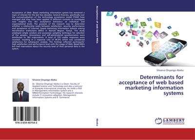 Determinants for acceptance of web based marketing information systems