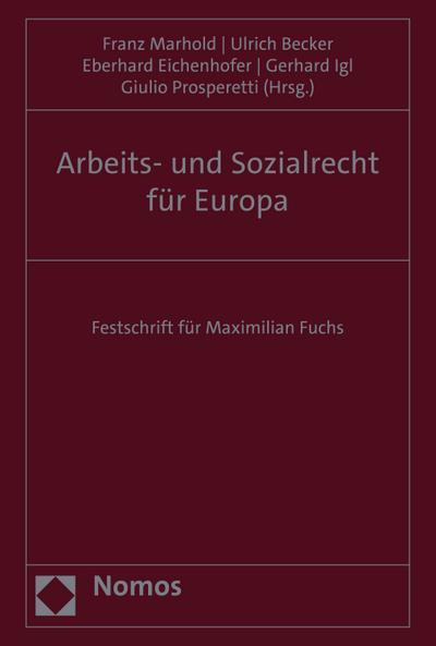 Arbeits- und Sozialrecht für Europa