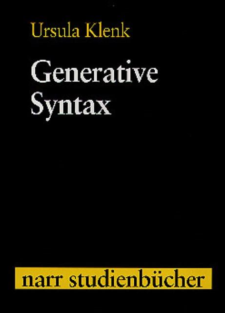 Generative Syntax | Ursula Klenk |  9783823349945