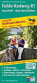 Radwanderkarte Fulda-Radweg, Gersfeld - Hann. Münden 1 : 50 000