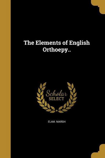 ELEMENTS OF ENGLISH ORTHOEPY