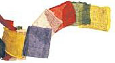 Tibetische Gebetsfahne 20 x 20 cm, 5 m lang