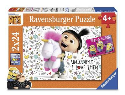 Agnes und die Minions(Puzzle)07811; 2 x 24 Teile. Puzzleformat: 26 x 18 cm; 406