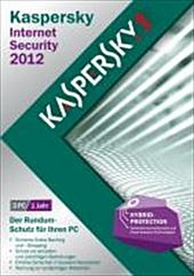 Kaspersky Internet Security 2012 3 Lizenzen (DVD-Box)