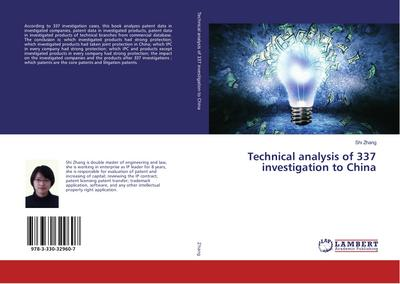 Technical analysis of 337 investigation to China