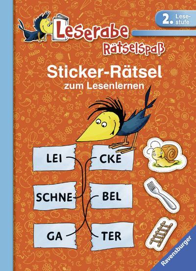Sticker-Rätsel zum Lesenlernen (2. Lesestufe) (Leserabe - Rätselspaß)