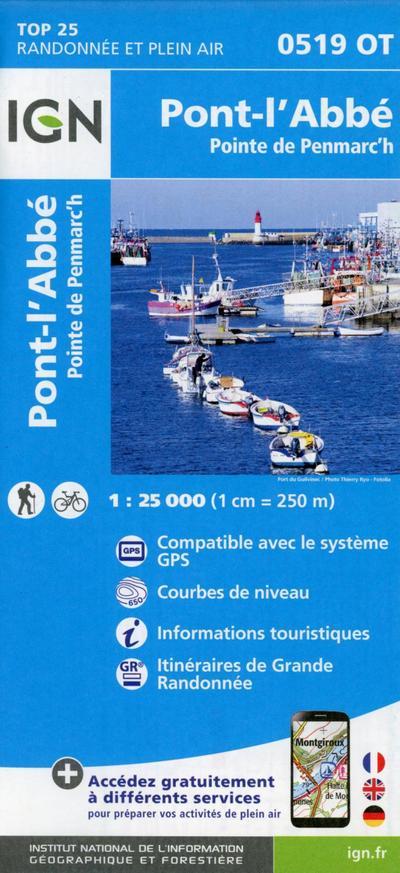 Pont-l'Abbé Point 1:25 000