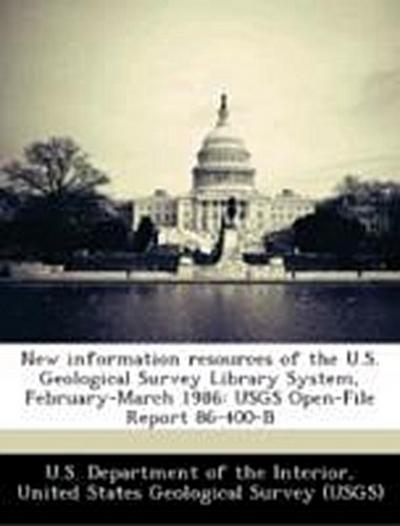 U. S. Department of the Interior, U: New information resourc