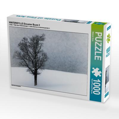 WINTERIDYLLE Einsamer Baum II (Puzzle)