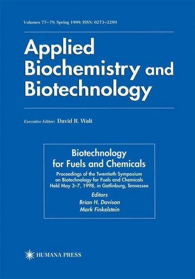 Twentieth Symposium on Biotechnology for Fuels and Chemicals