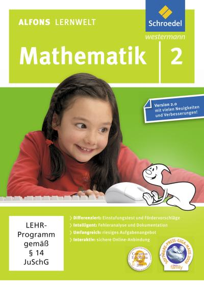 Alfons Lernwelt Lernsoftware Mathematik 2. DVD-ROM